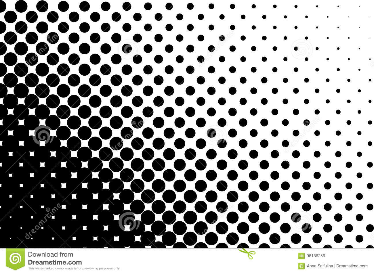 Halftone Pattern. Comic Background. Dotted Retro Backdrop