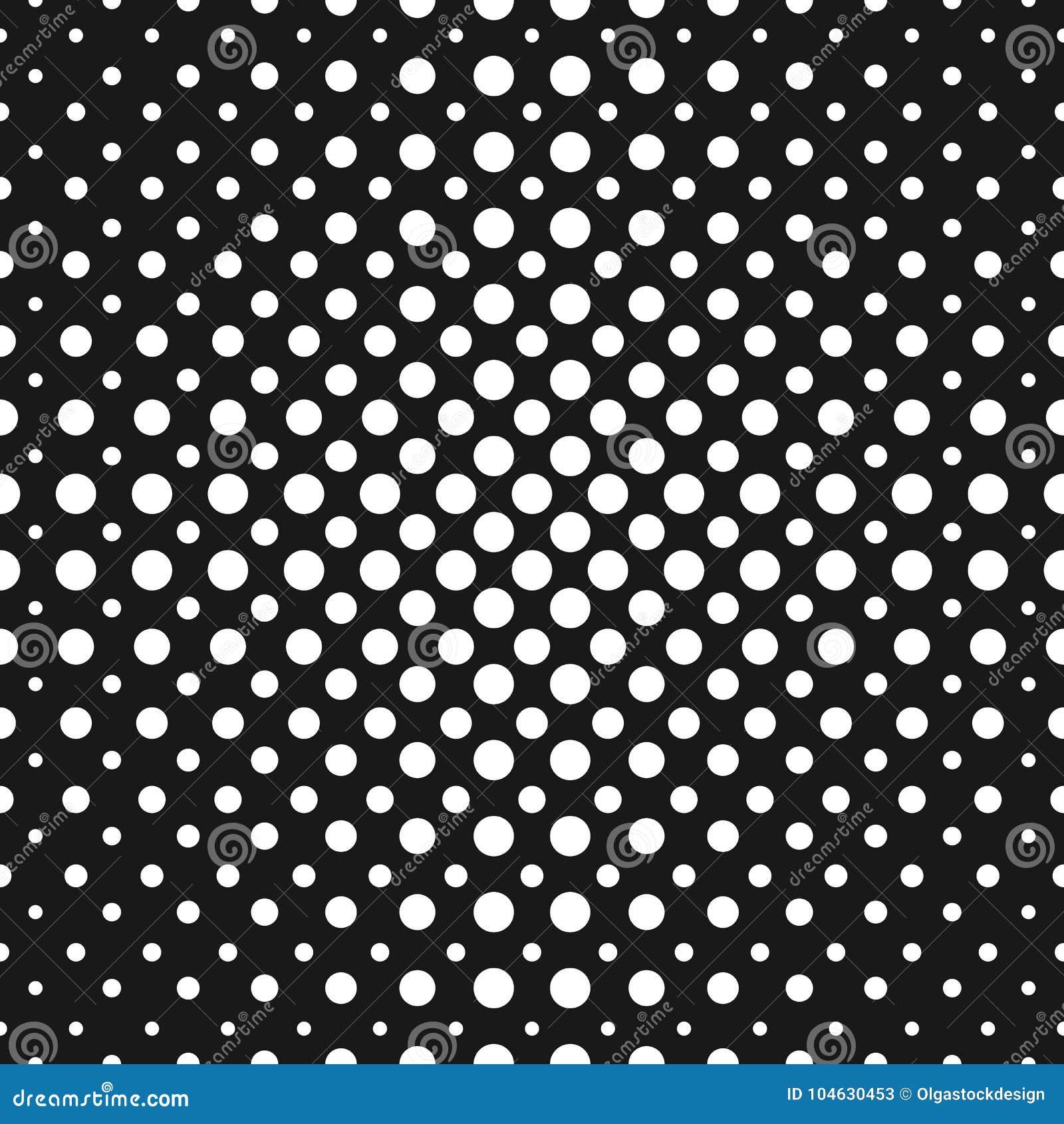 Download Halftone Punten Vector Naadloos Patroon Halftone Cirkels Vector Illustratie - Illustratie bestaande uit geometrisch, cirkel: 104630453
