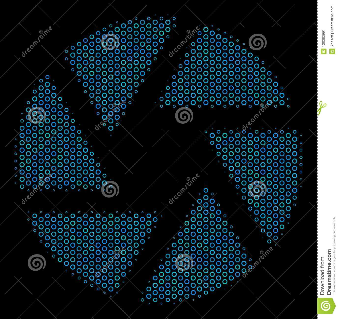 Shutter Mosaic Icon Of Halftone Spheres Stock Vector