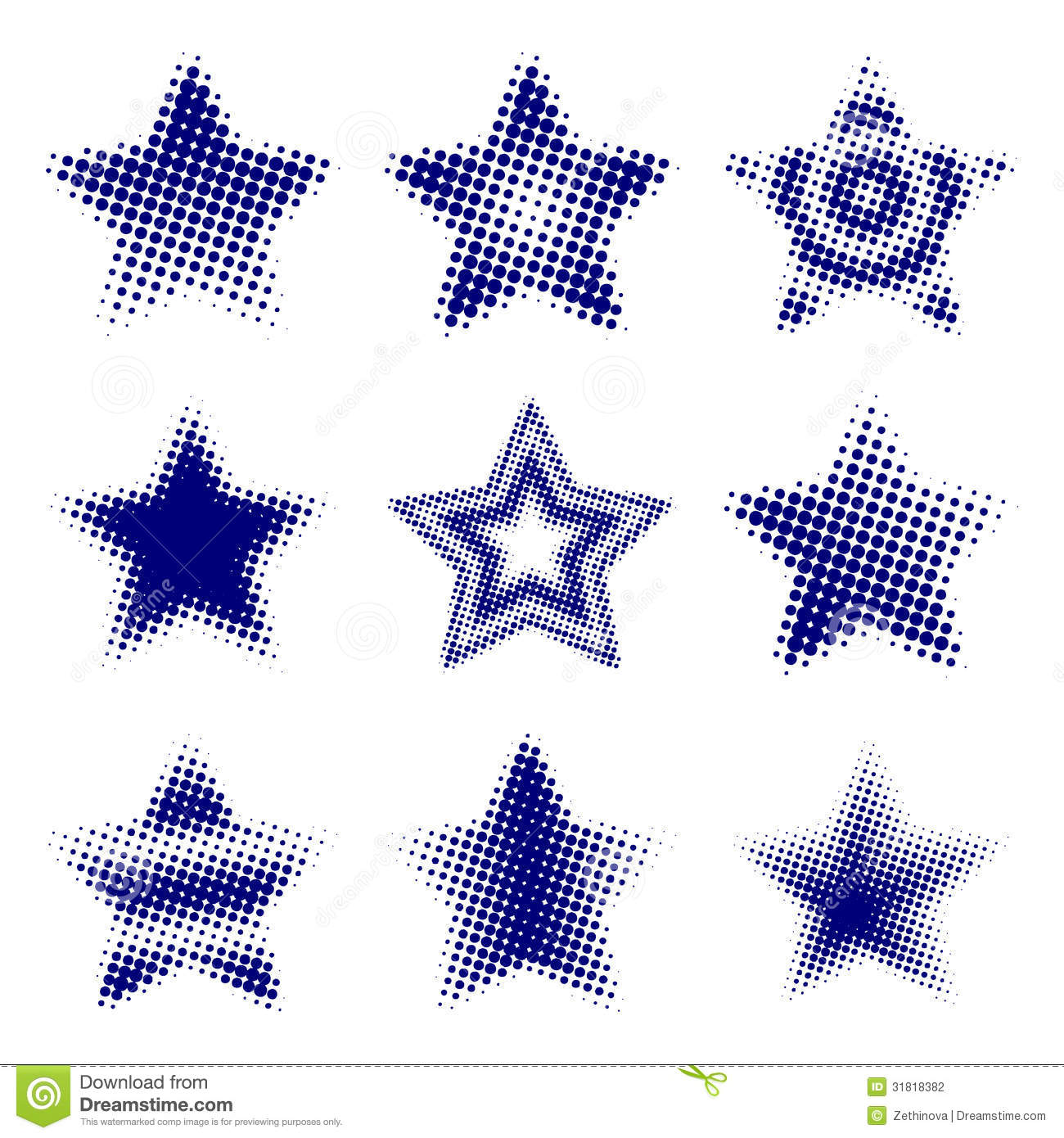 Halftone Stars Stock Photography Image 31818382