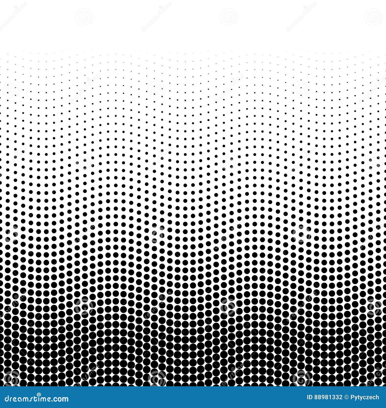 Halftone tło kropki w falistym przygotowania Biały wierzchołka gradient Abstrakcjonistyczna retro stylowa wektorowa tapeta