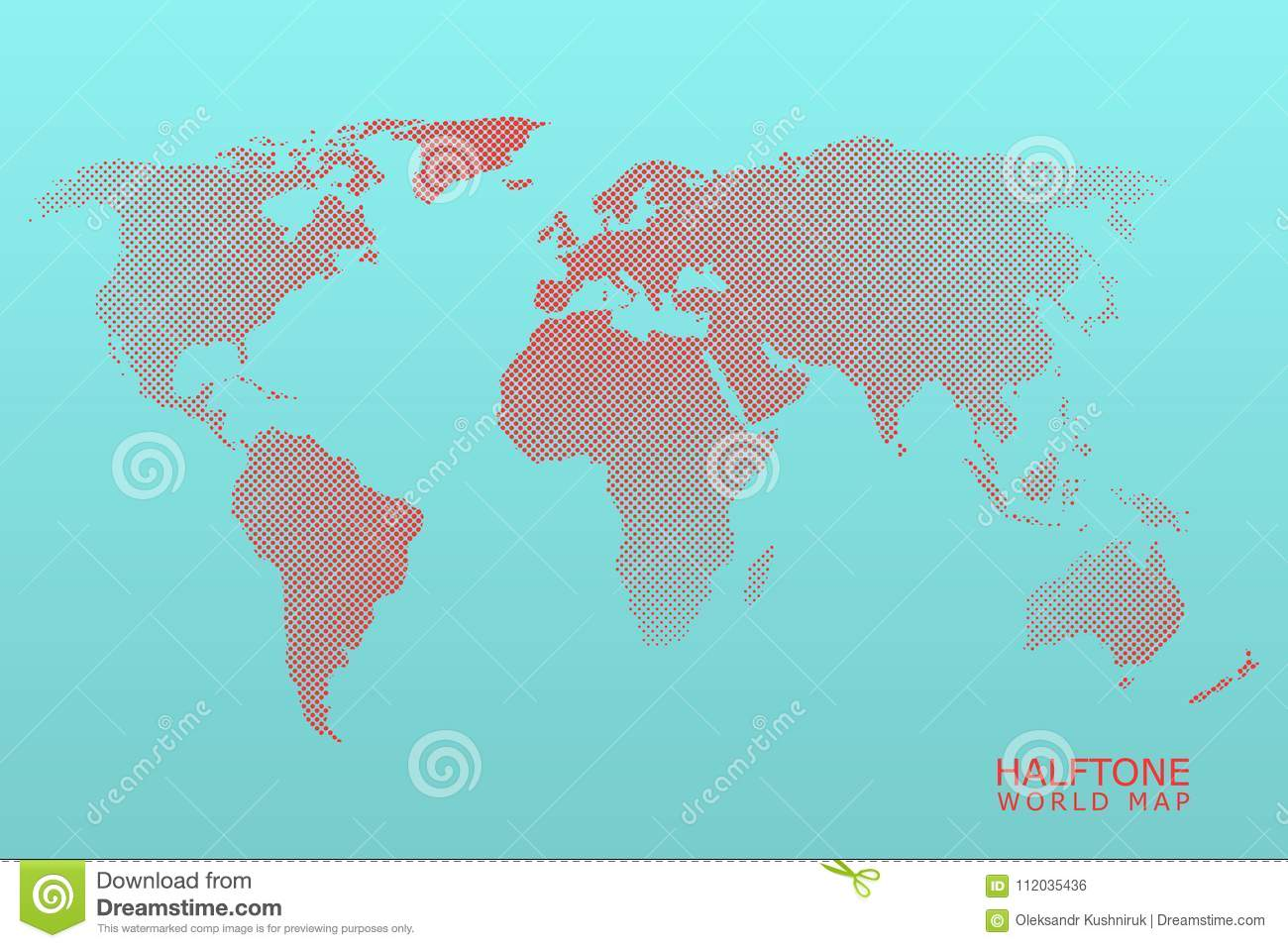 Halftone vector world map stock vector illustration of global download comp gumiabroncs Gallery