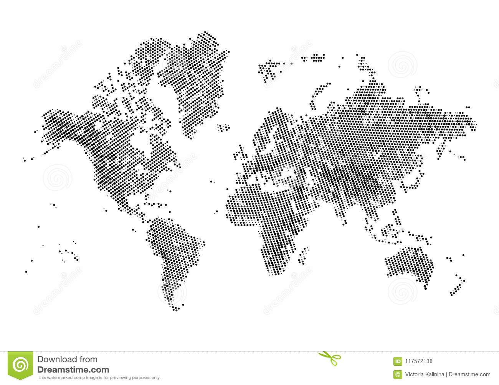 Halftone wereldkaart