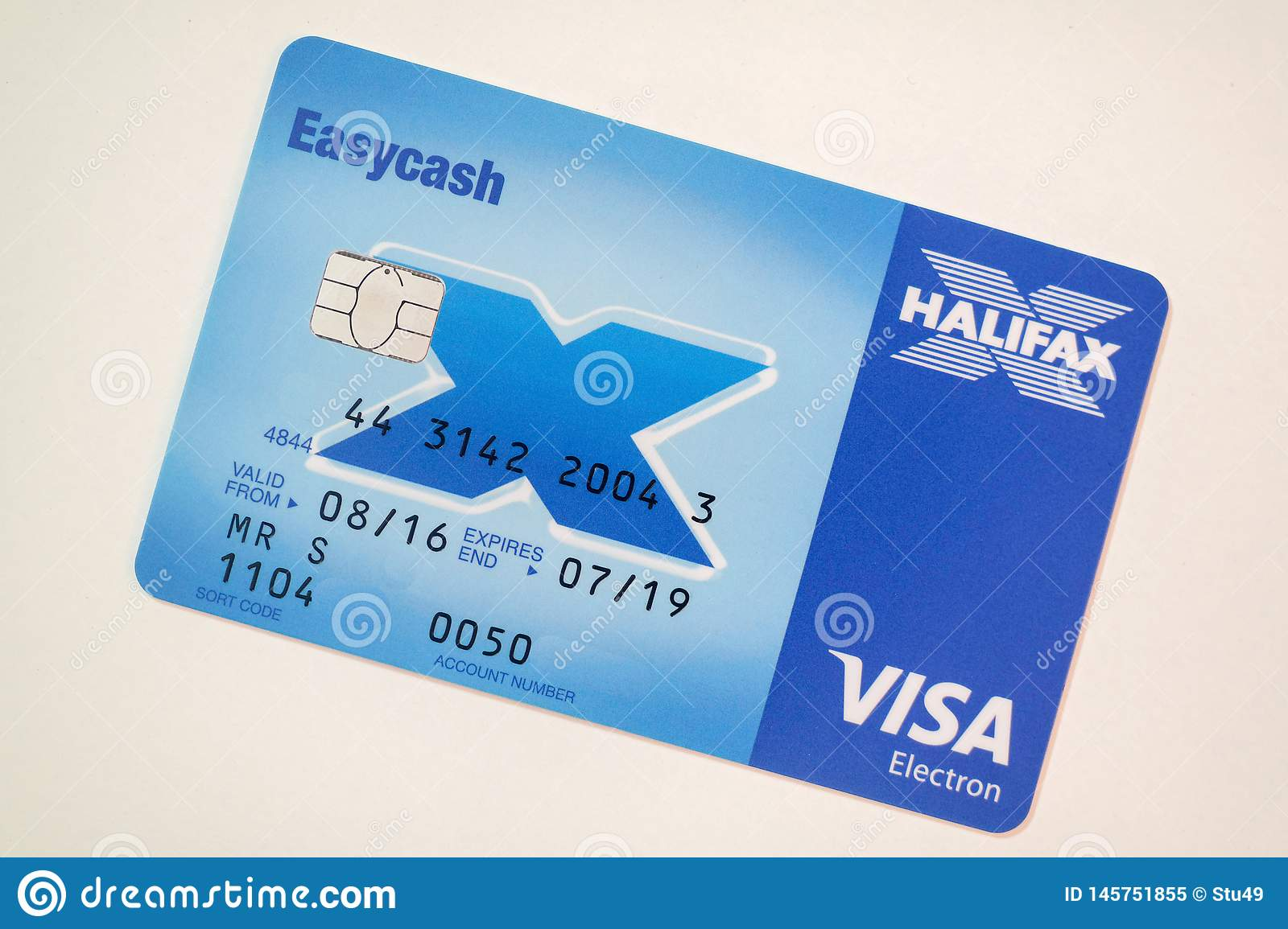 Halifax Bank Card On White Editorial Image Image Of Cashpoint 145751855