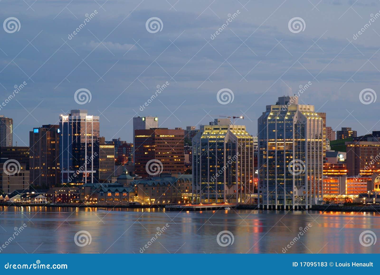 Halifax harbor at night