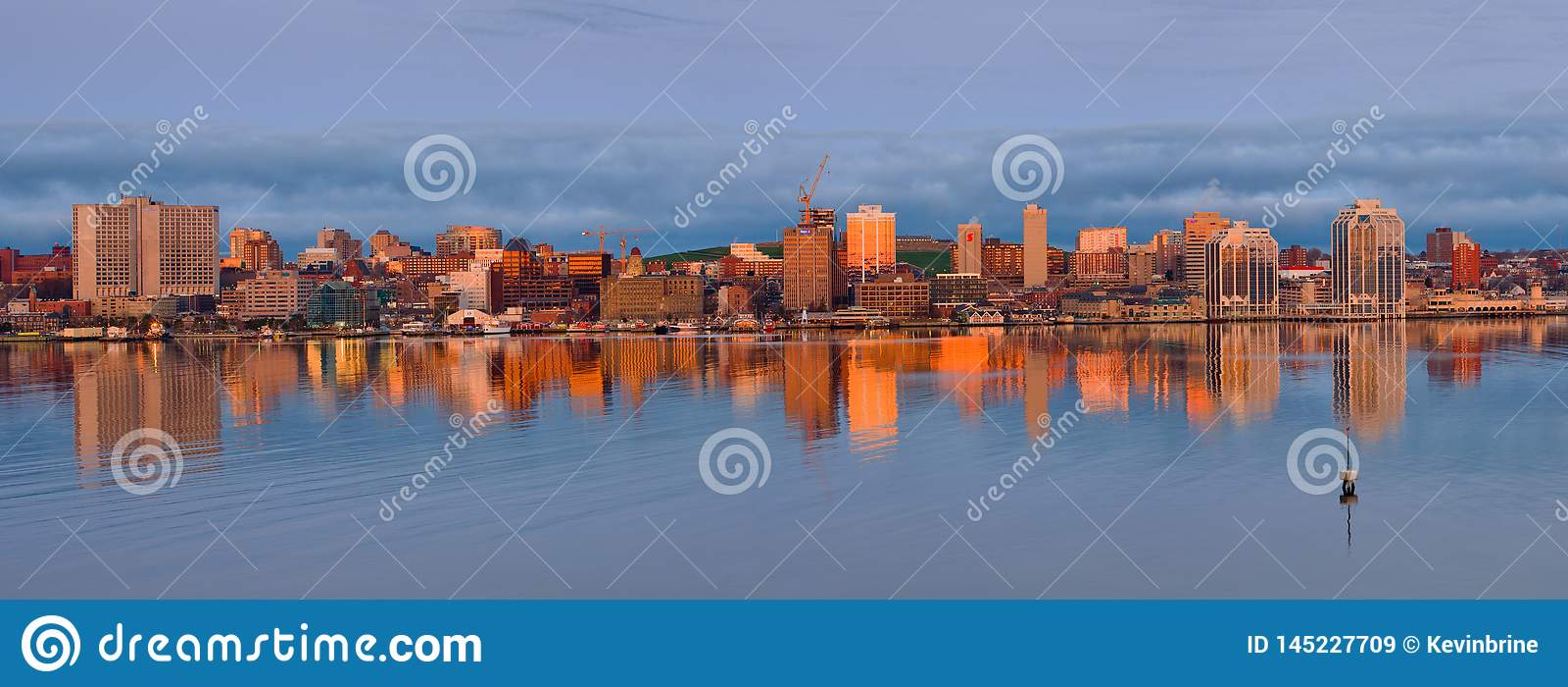 Halifax, Nova Scotia Skyline At Daybreak