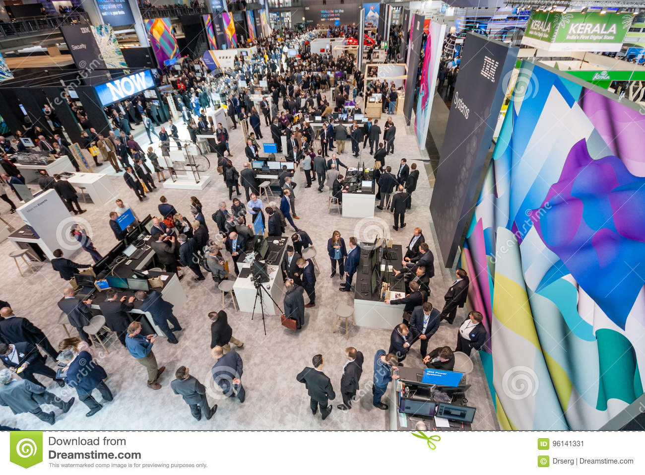 Hall 2 at CeBIT information technology trade show