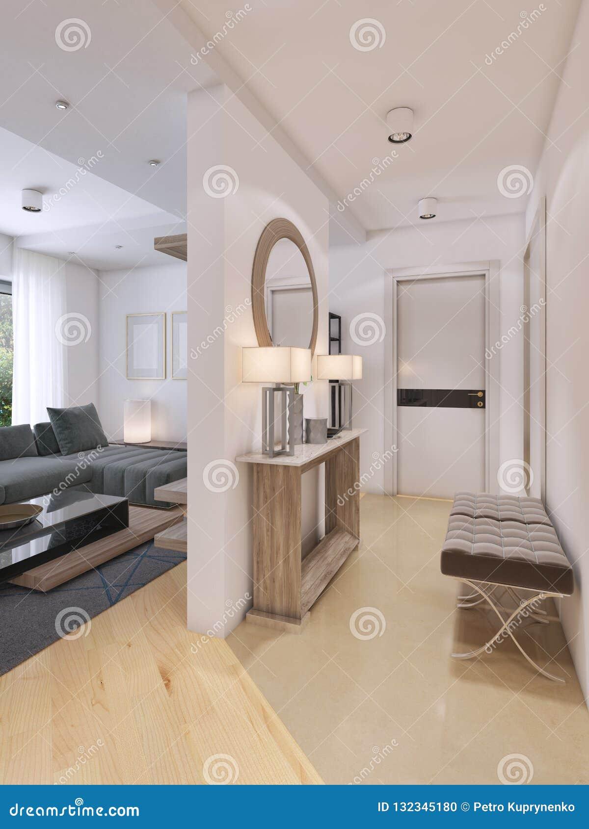 Hall D Entrée Moderne hall d'entrée luxueux dans un style moderne avec une table