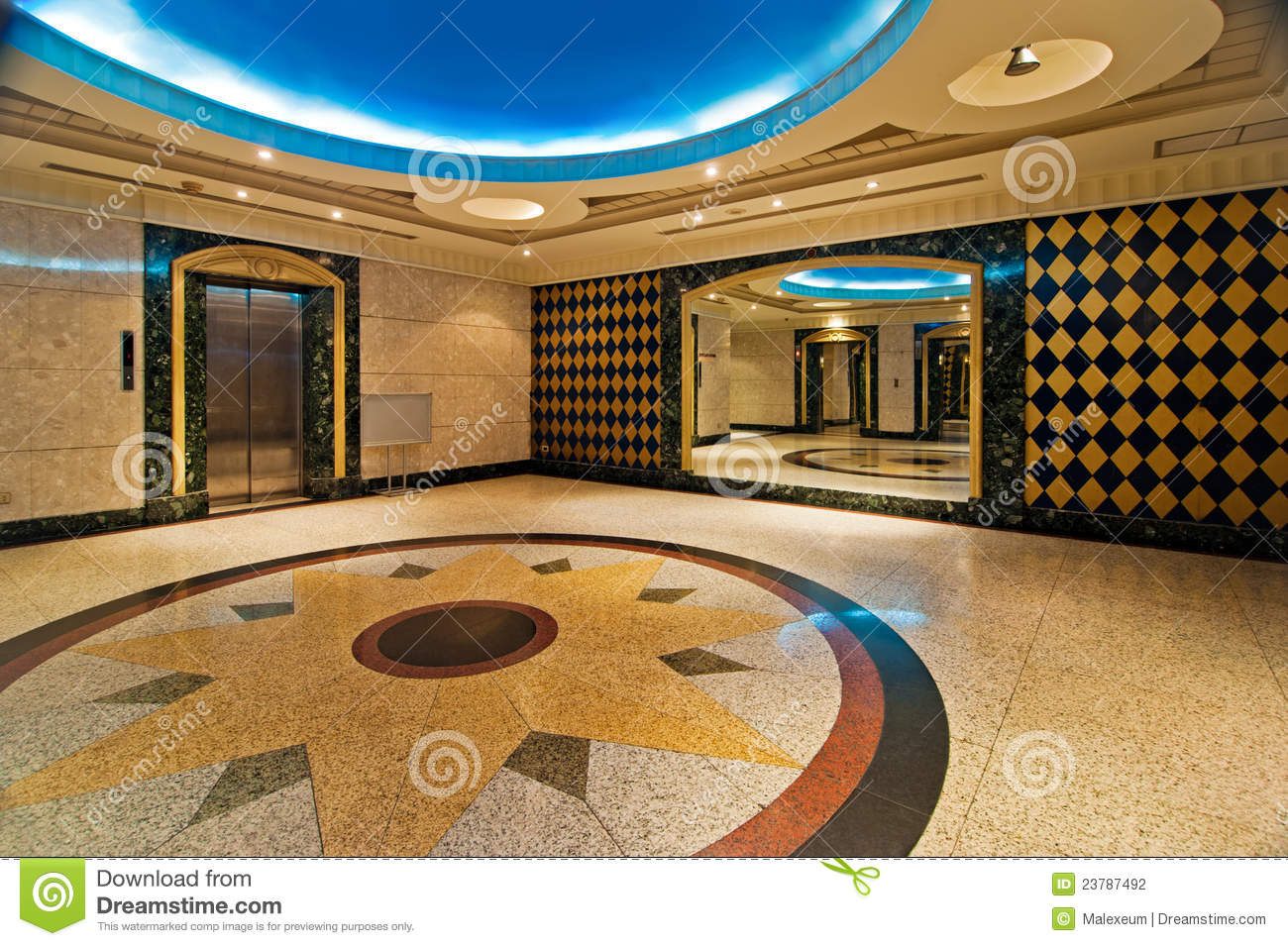Hall With Elevator Of Luxurious Hotel Stock Photo Image