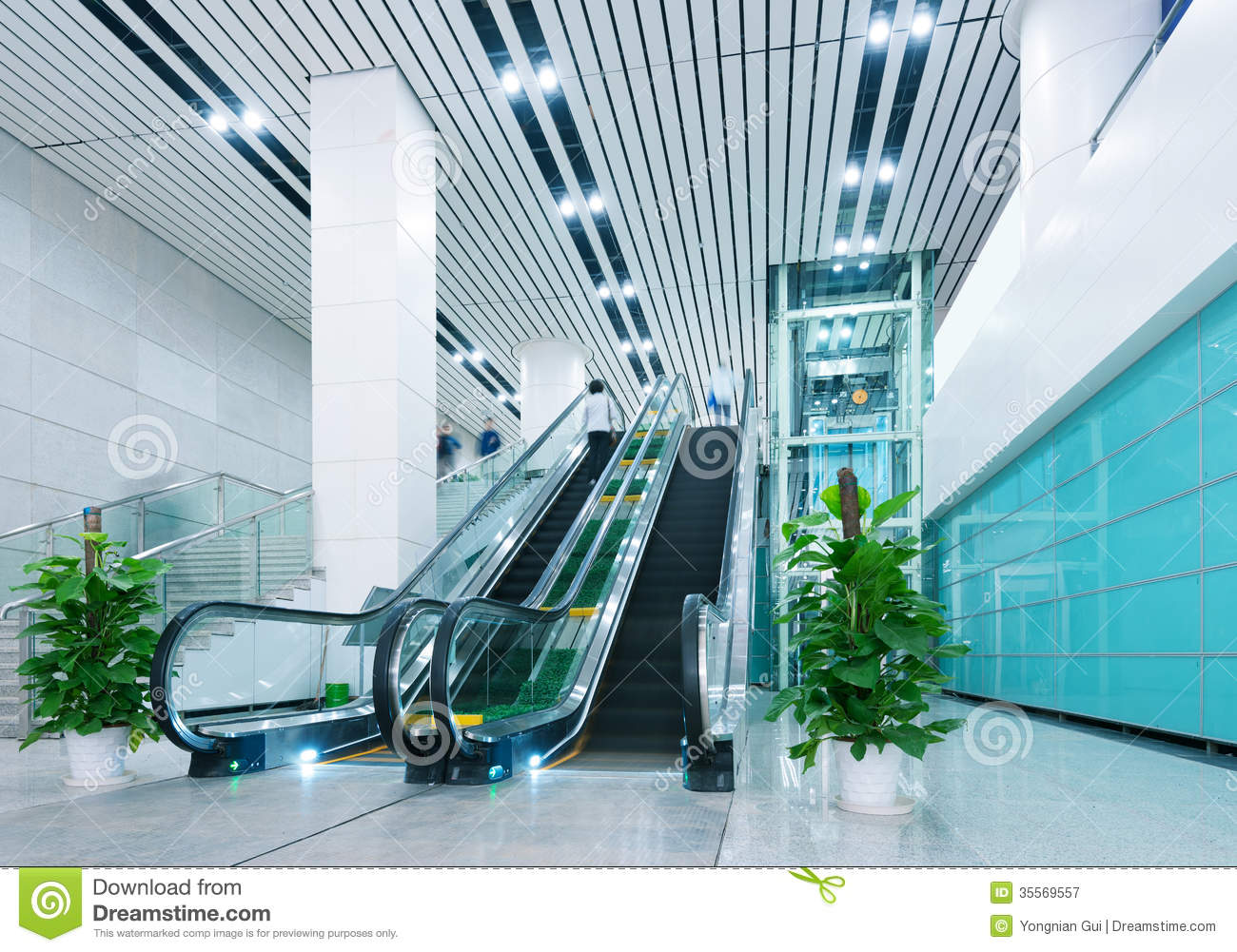 Hall et escalators