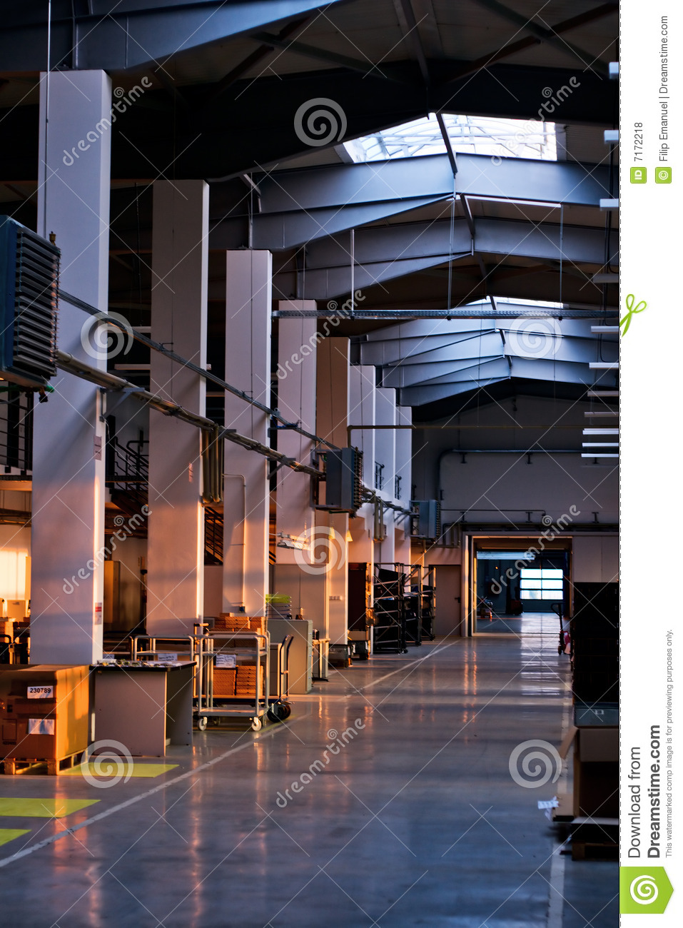 Hall Of A Factory Royalty Free Stock Photos Image 7172218