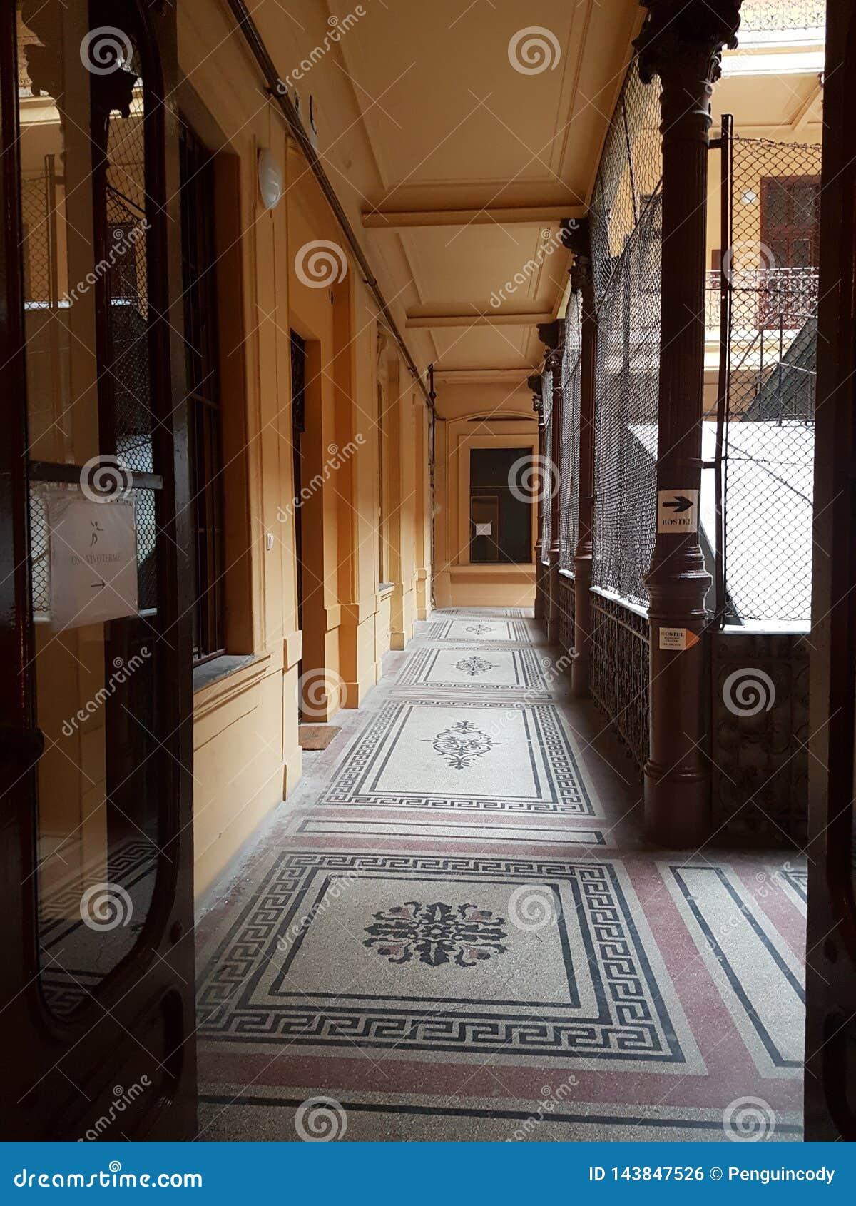 Hall i Budapest byggnad