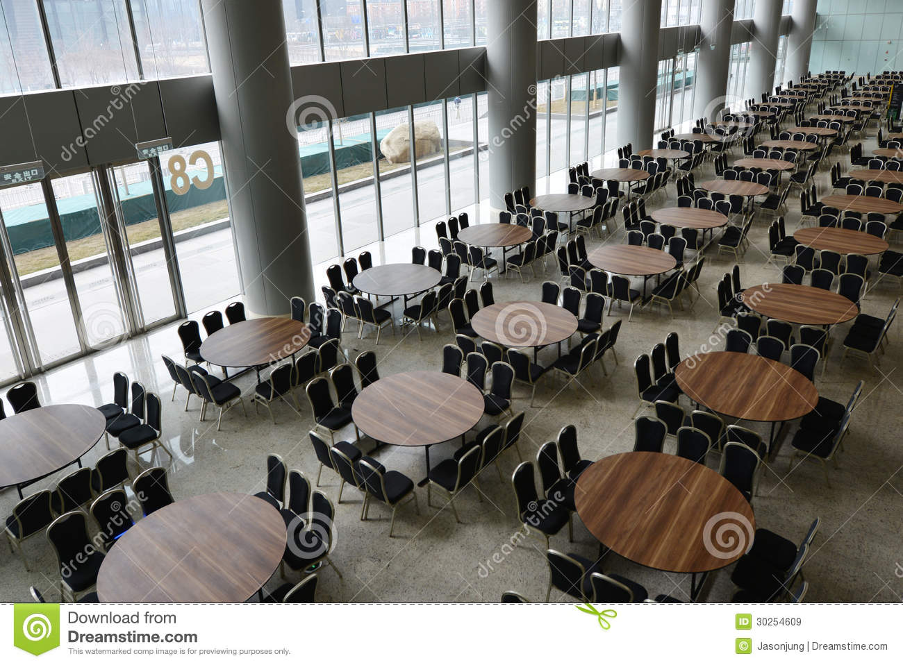 Hall with many table stock image image of chair great for Table table restaurants locations