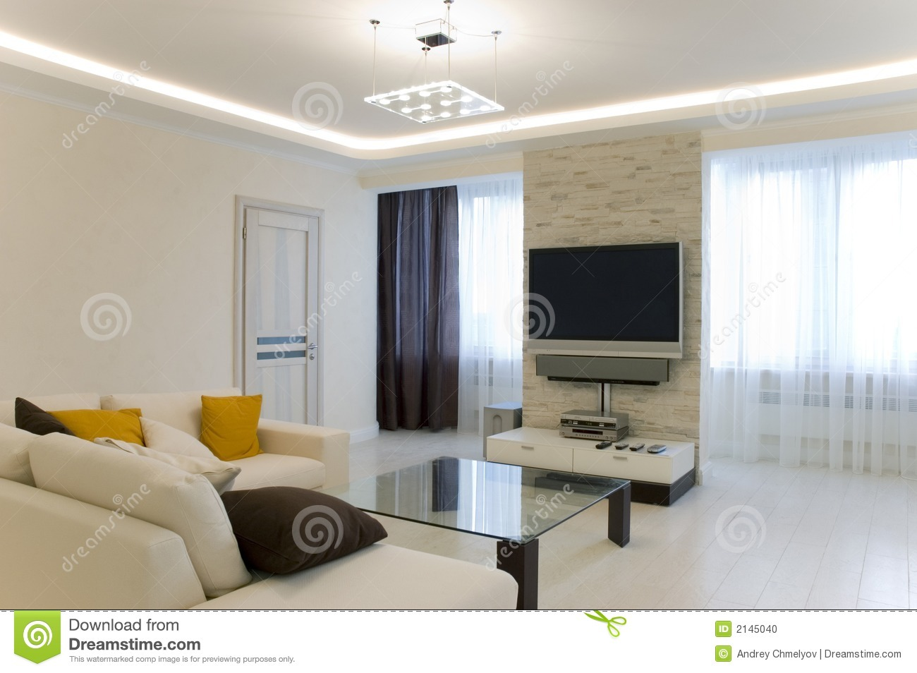 Hall with tv and sofa stock photo image of modern contemporaneous 2145040 for Images of couch for hall rennes