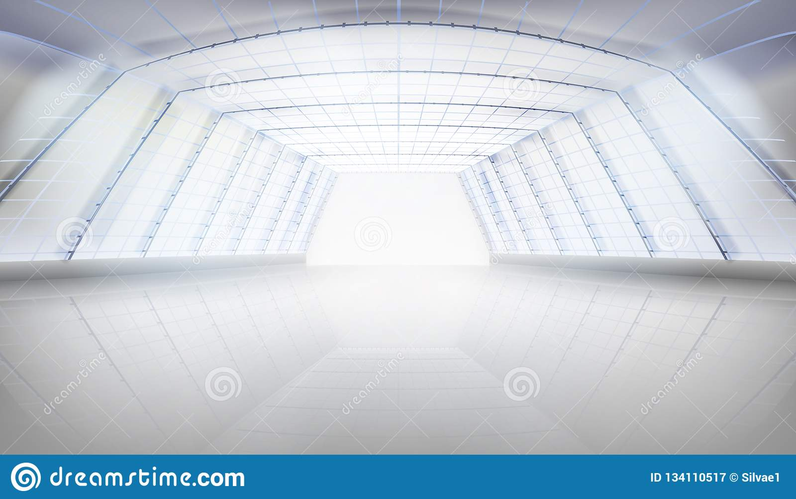 Hall z szklanym dachem również zwrócić corel ilustracji wektora