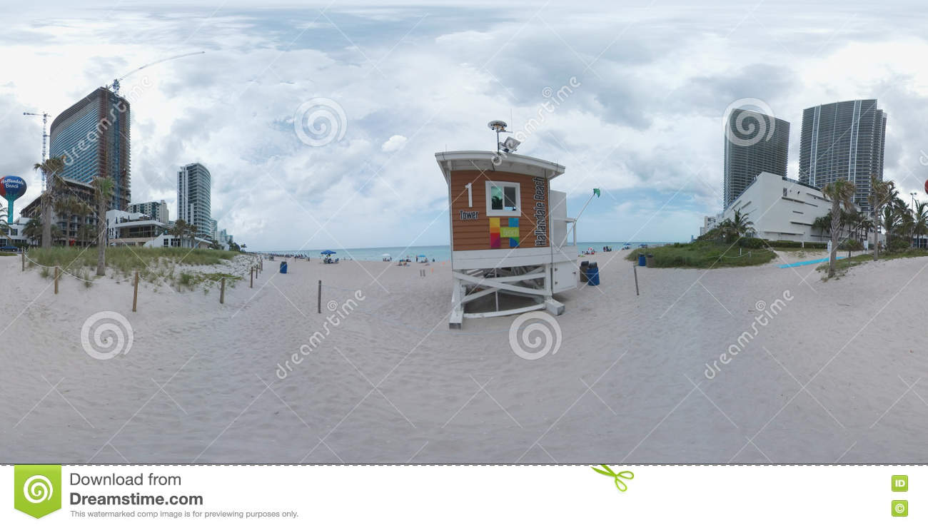 Hallandale Beach  Panorama Stock Photo Image - Florida map hallandale
