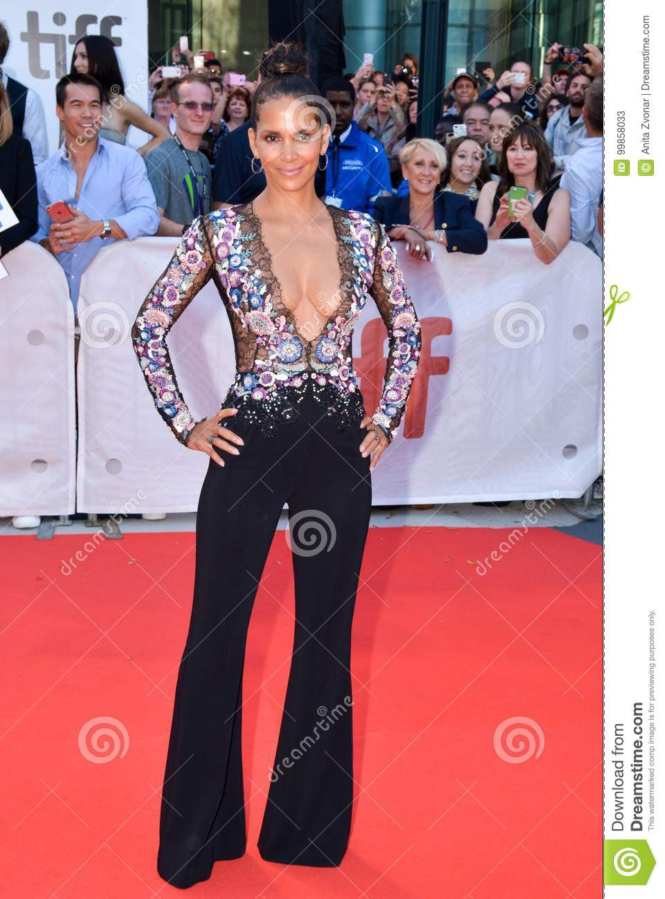 Halle Berry at the `Kings` premiere at toronto international film festival in toronto