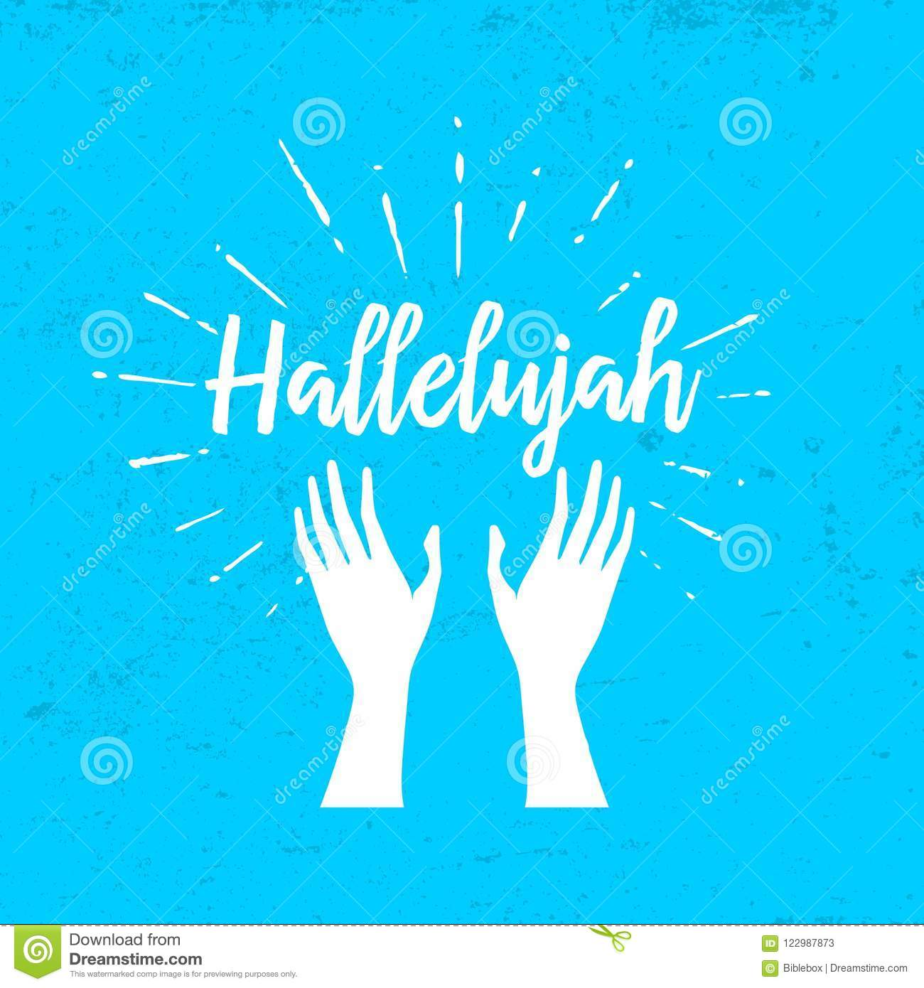 hallelujah and raised hands stock vector illustration of goliath