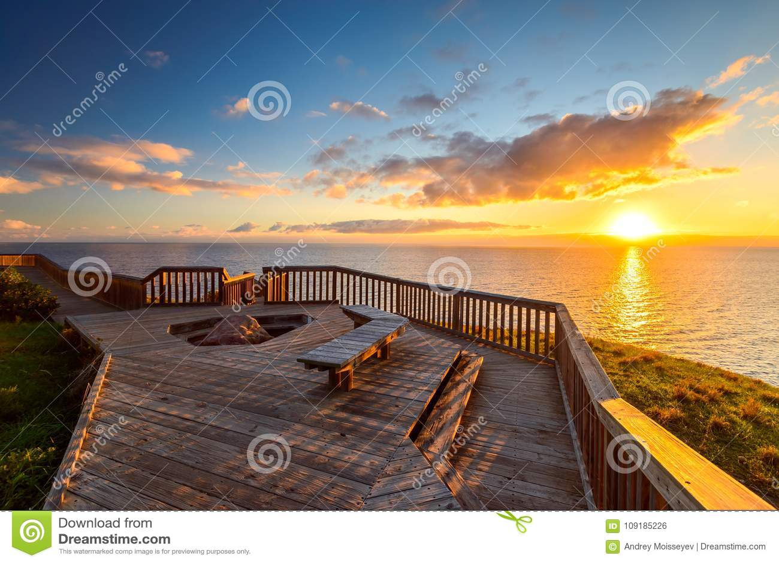 hallett cove boardwalk at sunset stock photo image of. Black Bedroom Furniture Sets. Home Design Ideas