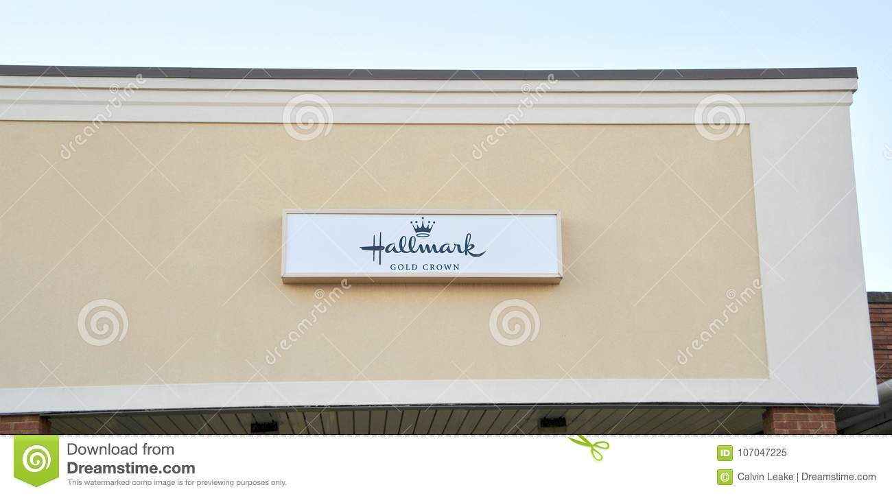 Hallmark Gold Crown Greeting Card Store Editorial Image Image Of