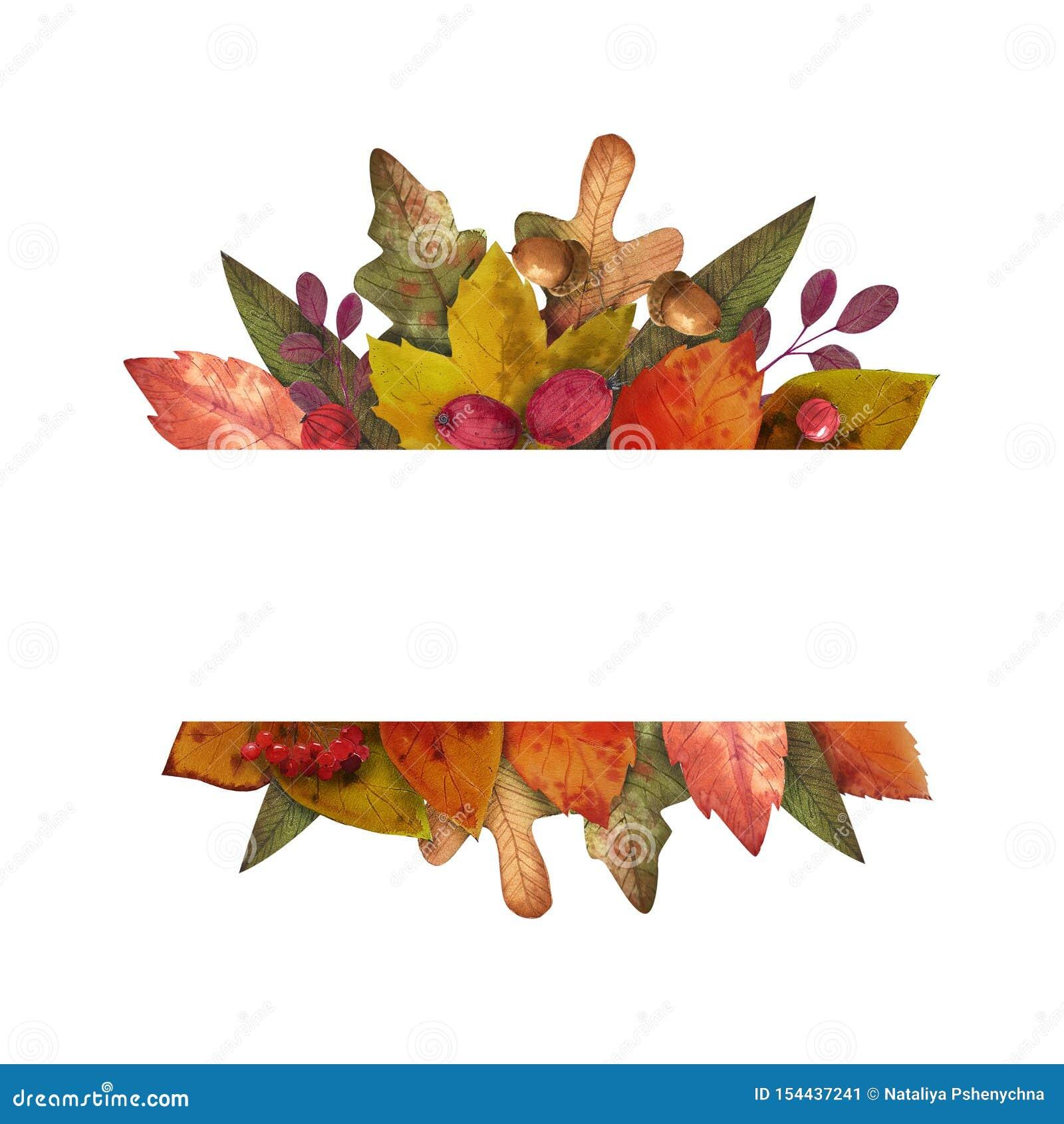 Hallo Herbst Aquarell verl?sst Rahmen