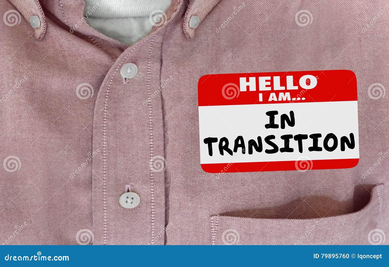 Hallo Im in Übergangs-Änderungs-entwickelndem Namensschild