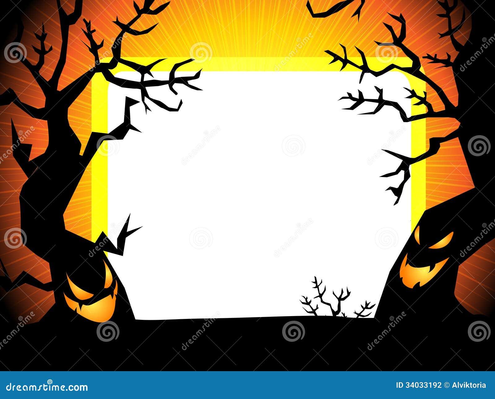 Halloween Achtergrond.Halloween Achtergrond Stock Illustratie Illustration Of Kasteel 34033192