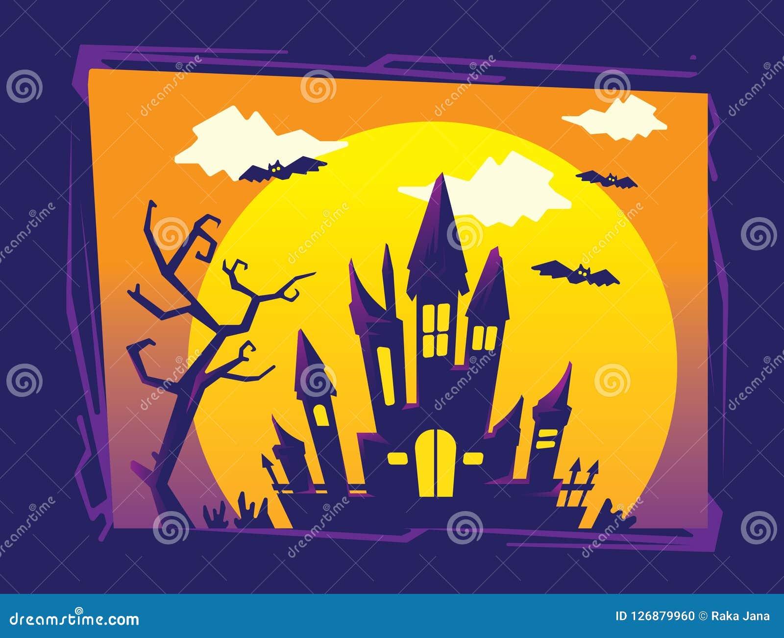 Halloween-Achtergrondmalplaatje