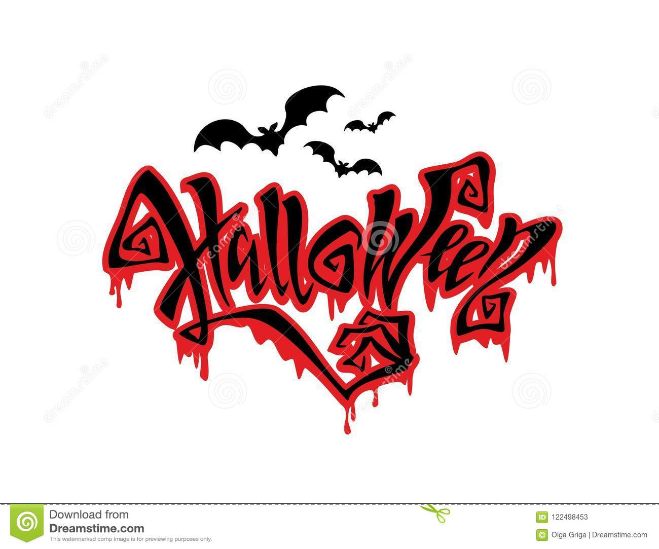 Halloween All Saints Day Card Magic Magic Lettering With Ominous