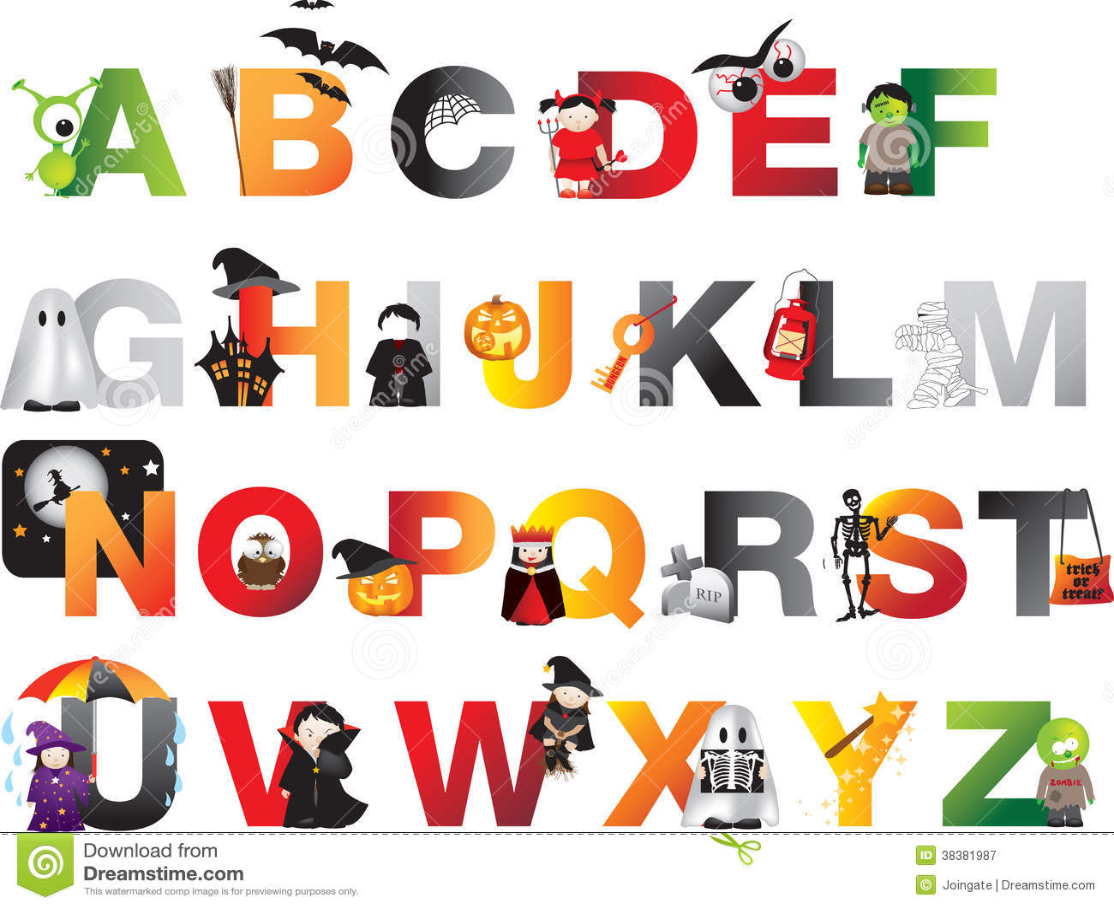 Halloween Alphabet Royalty Free Stock Photography Image