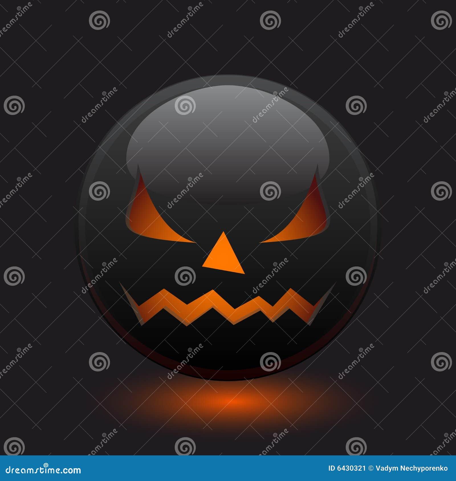 Halloween angry icon