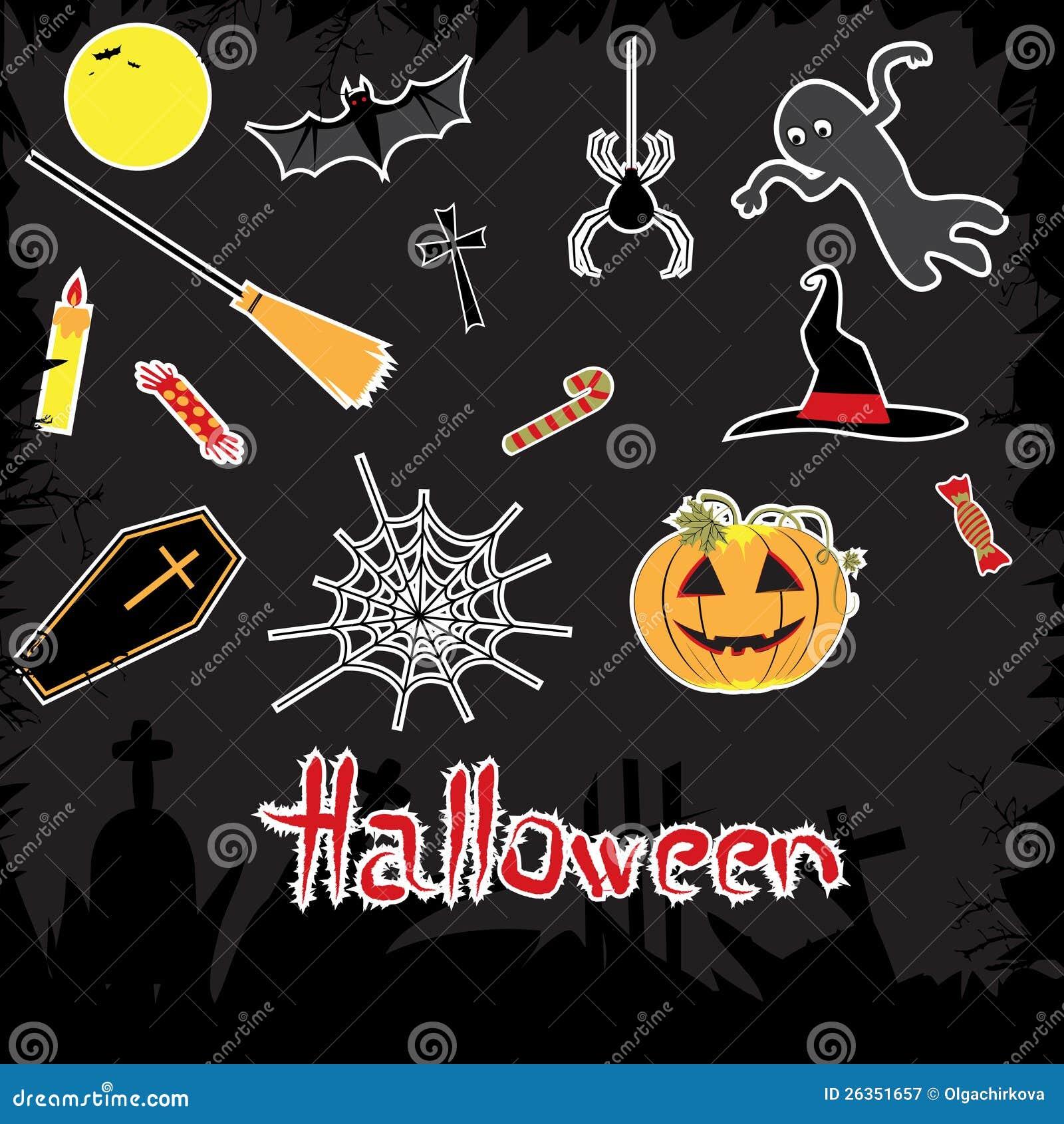 Halloween-Attribute eingestellt.