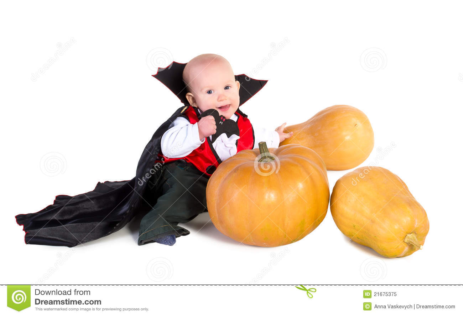Halloween-Baby mit dem Pumpking 5