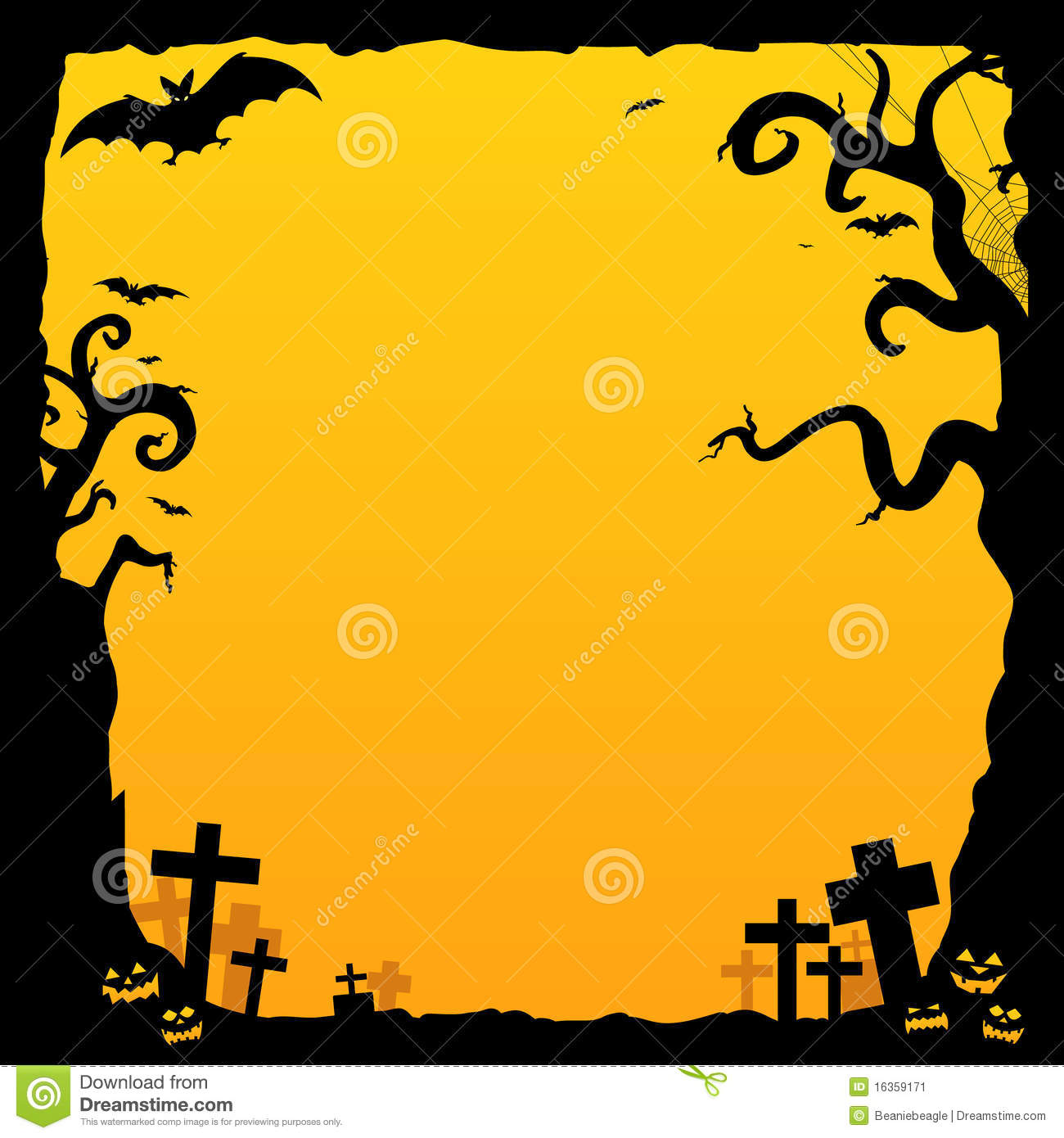 Halloween Background Stock Vector Image Of Blank