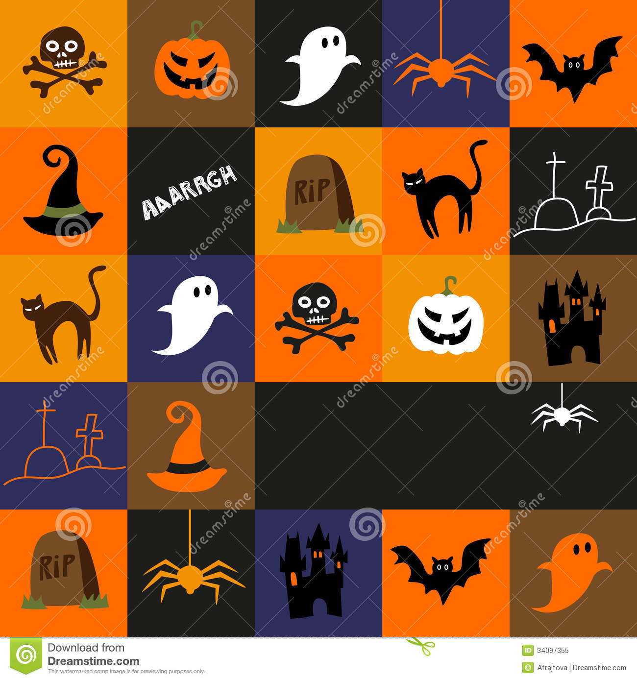 halloween text symbols