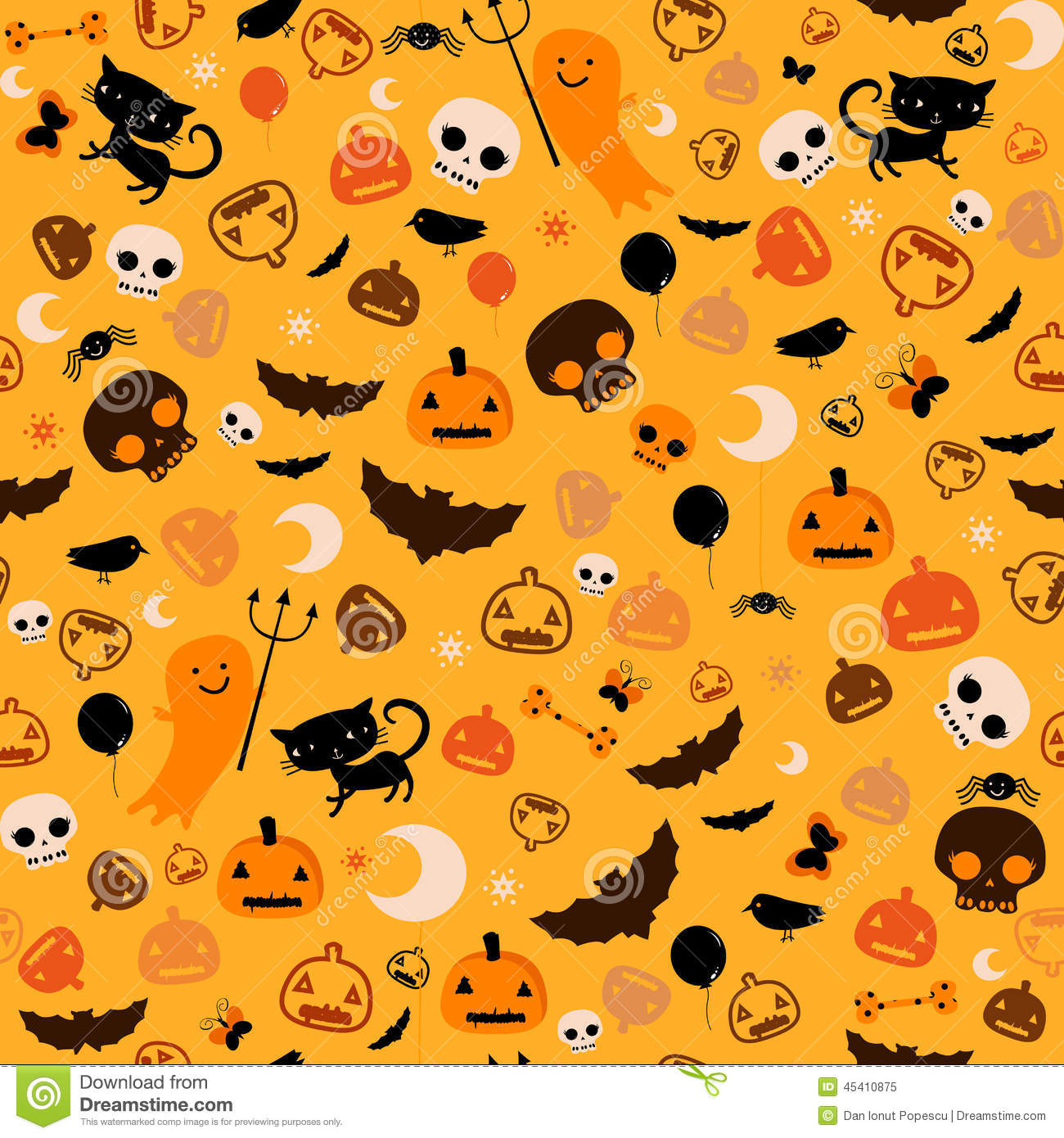 Halloween background stock vector. Image of animal, illustration ...