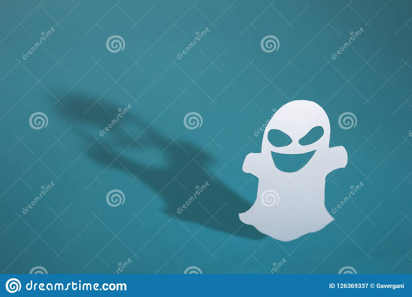 halloween background concept funny ghost and graphic shade har