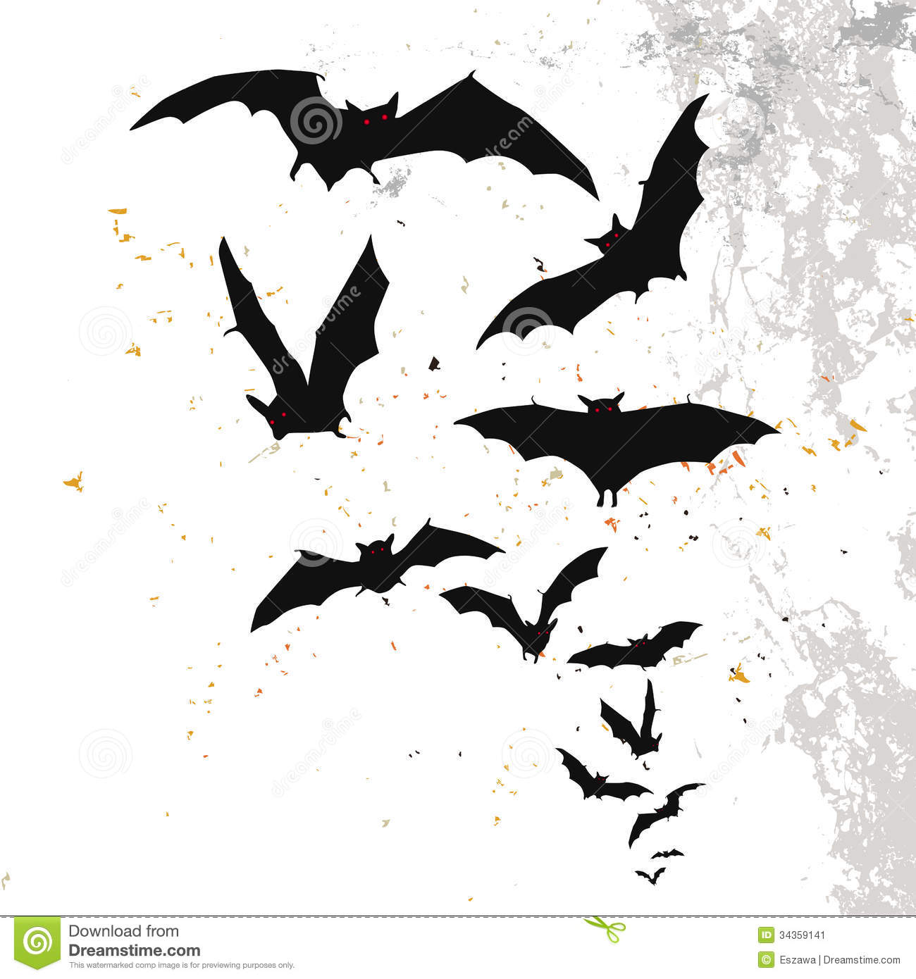 Halloween Background With A Full Moon And Bats Stock Image Image 34359141