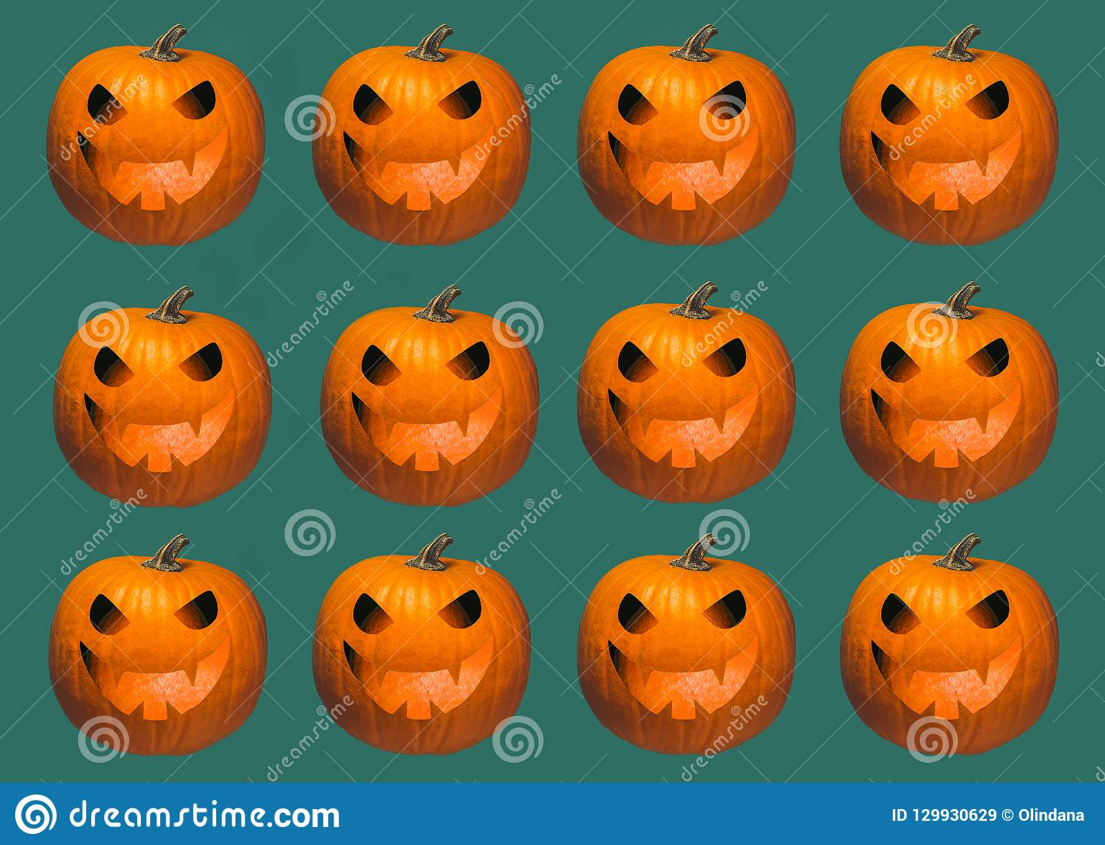 Halloween pumpkins carved faces hats stock vector royalty free