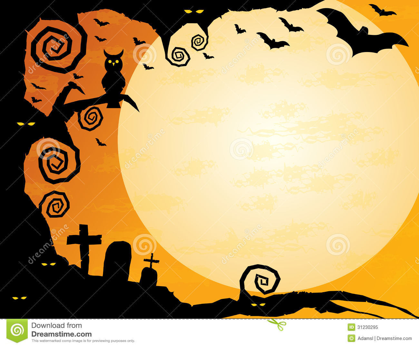 halloween background stock vector illustration of cartoon 31230295 rh dreamstime com Scary Eyes Evil Eyes Clip Art