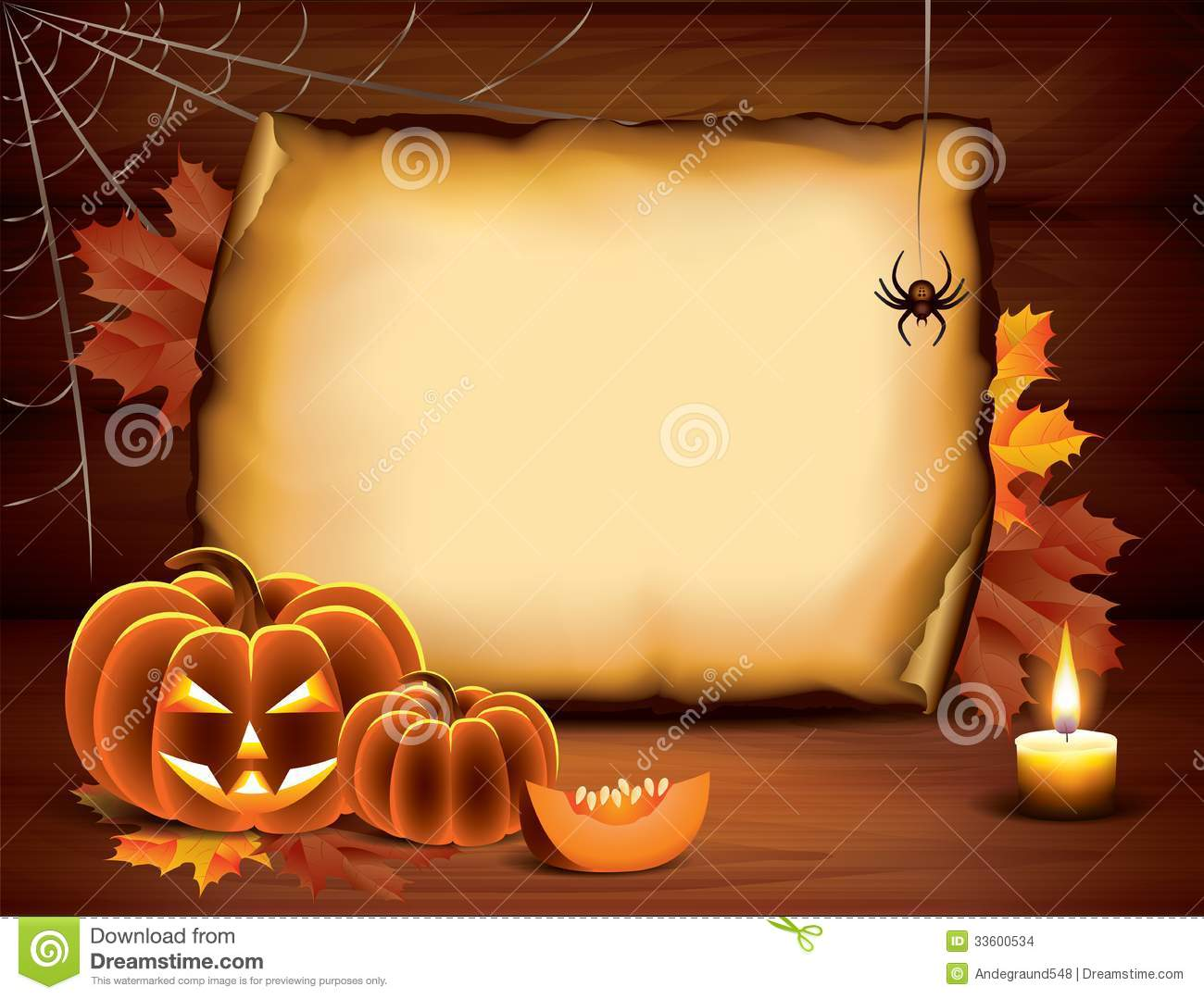 halloween background with pumpkins  paper  candle stock Halloween Candy Clip Art Free Disney Halloween Clip Art Free