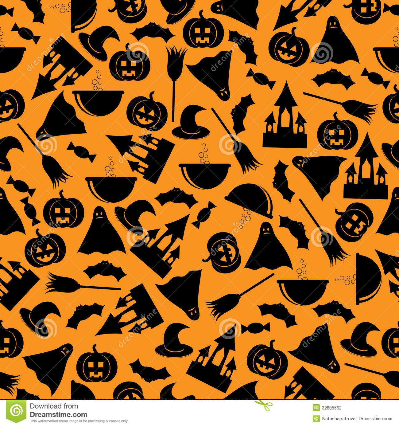 Halloween background stock vector image of moon