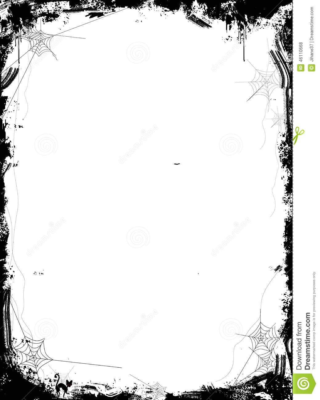 halloween background with spiders on white background stock illustration image 46110668. Black Bedroom Furniture Sets. Home Design Ideas
