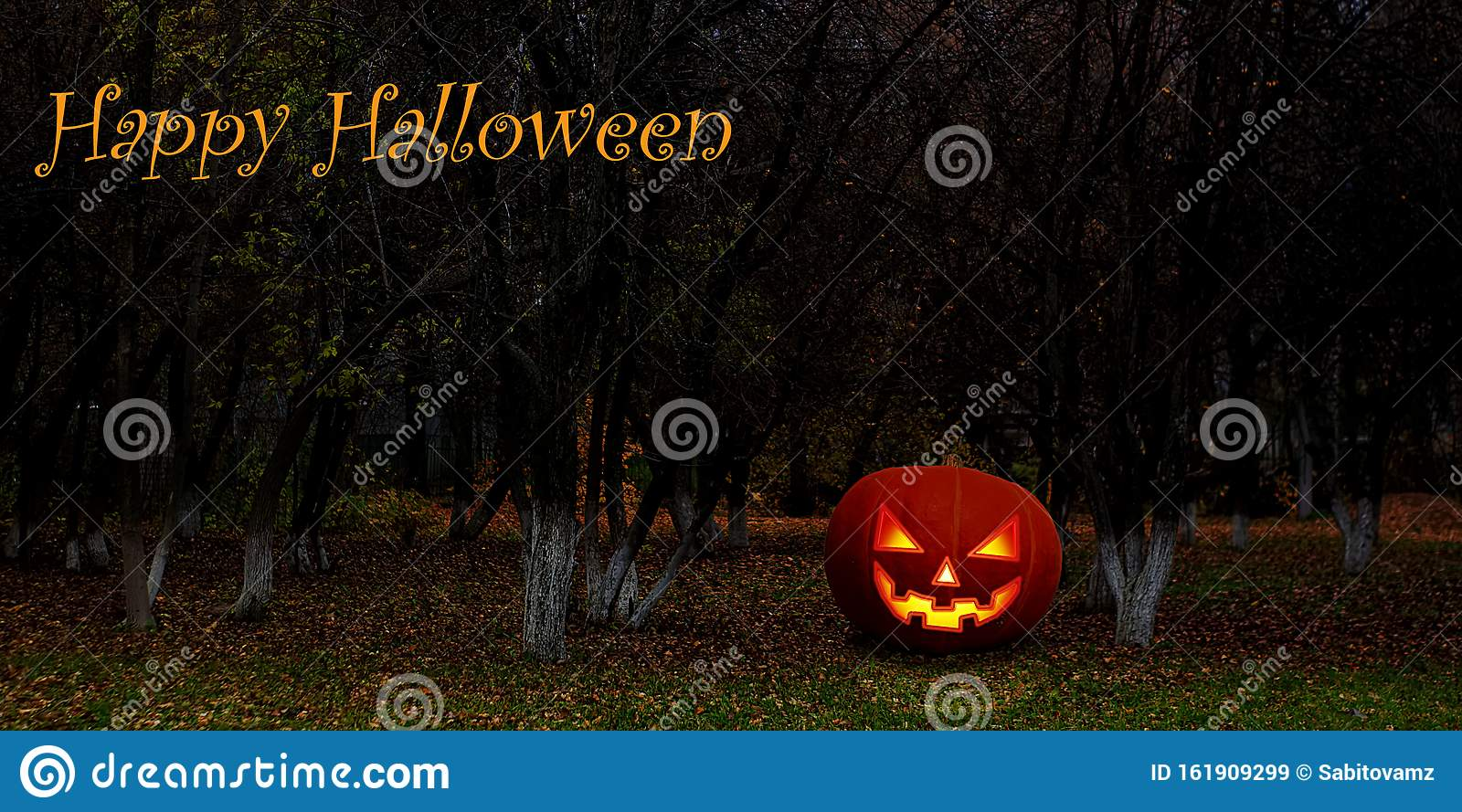 Halloween Background Wallpaper With Pumpkin Jack Lantern The