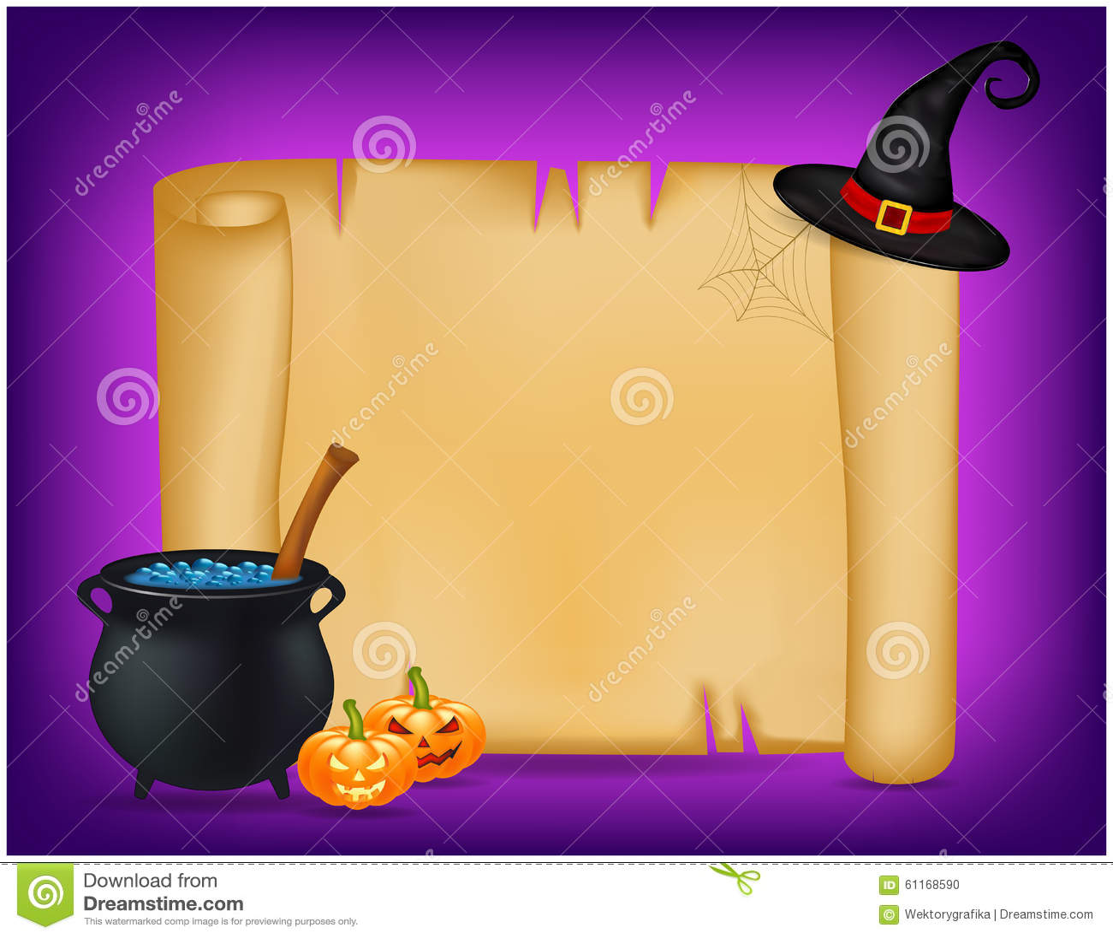 Halloween Witches Cauldron Stock Illustration ...