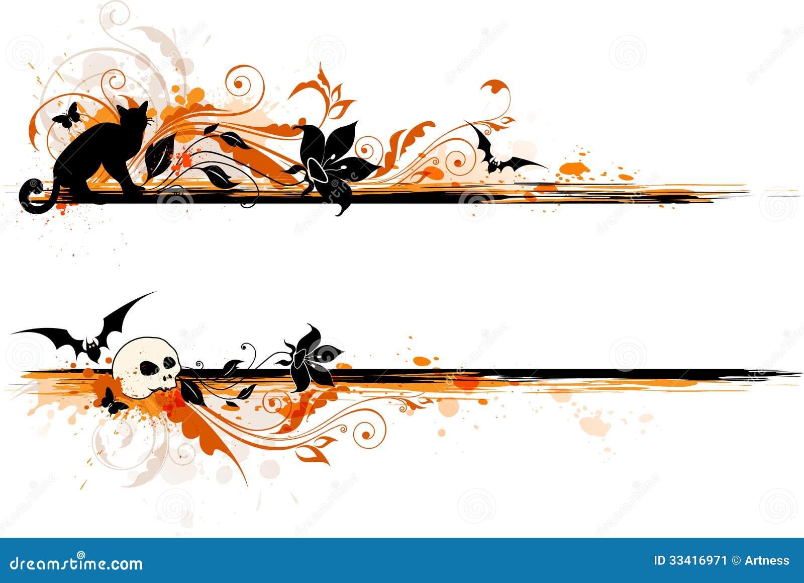Halloween Banner Stock Image - Image: 33416971