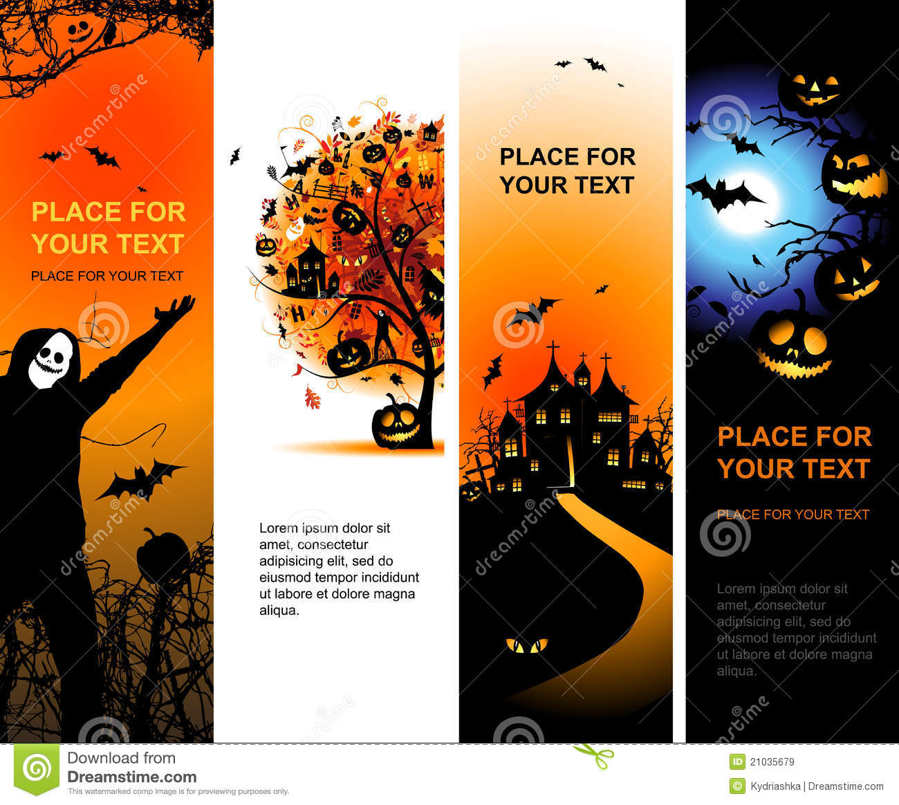 halloween banners vertical for your design royalty free
