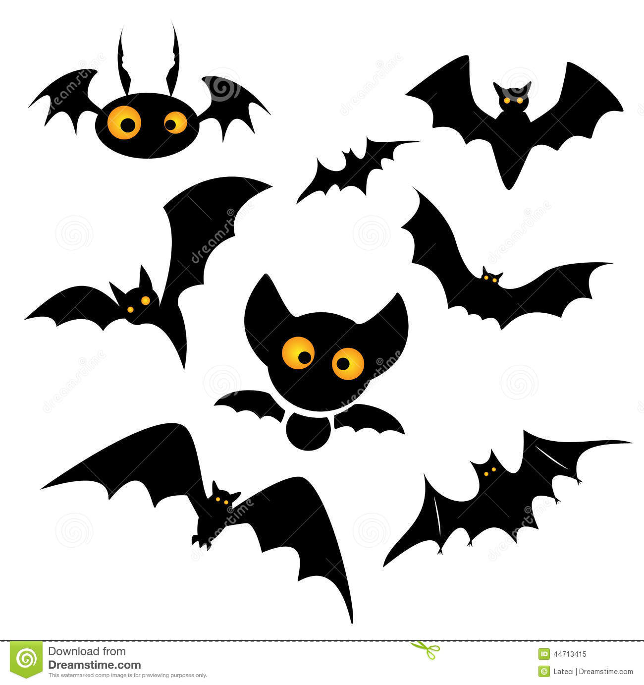 Halloween bat clip art illustration isolated on a white background ...