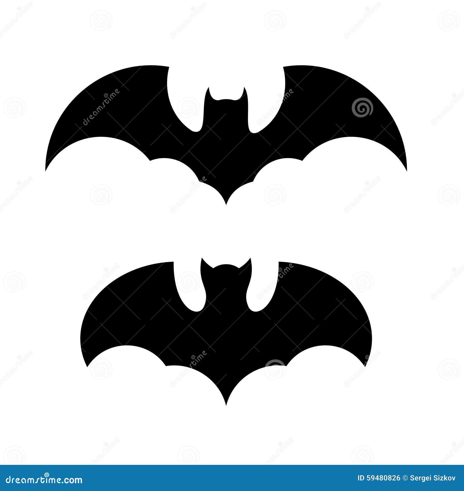 halloween bat icon set vector editorial photo image 59480826