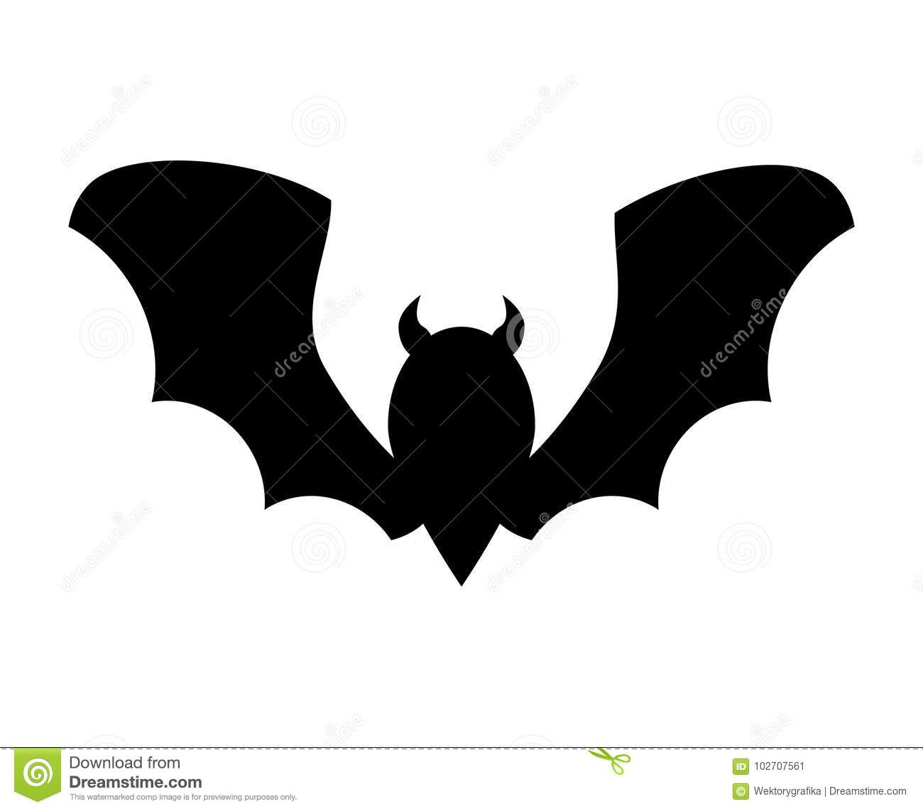 halloween bat silhouette vector design isolated on white backgr